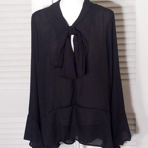 NWT Black Sheer with Loose Bow